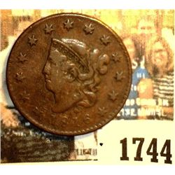 1744 _ 1816 U.S. Large Cent, originally purchased in someone's auction #598 as VF+.