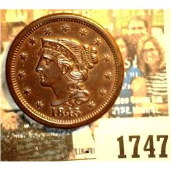 1747 _ 1845 U.S. Large Cent. Originally purchased from Sleepy Hollow Coins as MS63 RB.