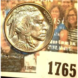 1765 _ 1936 S Buffalo Nickel, Gem BU. May have been certified by NGC as MS65 at one time according t