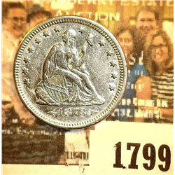 1799 _ 1873 P with Arrows U.S. Seated Liberty Quarter, EF+