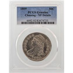 1809 Capped Bust Half Dollar Coin PCGS XF Details