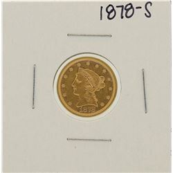 1878-S $2 1/2 Liberty Head Quarter Eagle Gold Coin