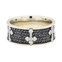 14KT White Gold 2.62 ctw Black Diamond Ring