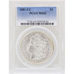 1881-CC $1 Morgan Silver Dollar Coin PCGS MS63