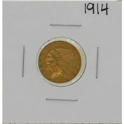 1914 $2 1/2 Indian Head Quarter Eagle Gold Coin