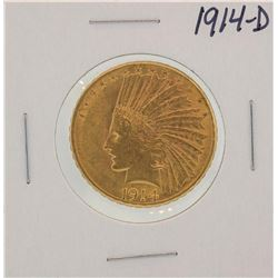 1914-D $10 Indian Head Half Eagle Gold Coin