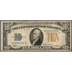 1934A $10 Silver Certificate WWI Emergency North Africa Note