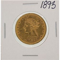 1893 $10 Liberty Head Eagle Gold Coin
