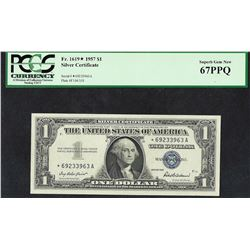 1957 $1 Silver Certificate STAR Note PCGS Superb Gem New 67PPQ