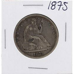 1875 Seated Liberty Half Dollar Coin