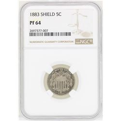 1883 Shield Nickel Proof Coin NGC PF64