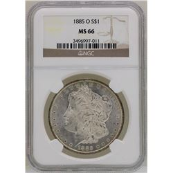 1885-O $1 Morgan Silver Dollar Coin NGC MS66