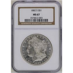 1882-S $1 Morgan Silver Dollar Coin NGC MS67