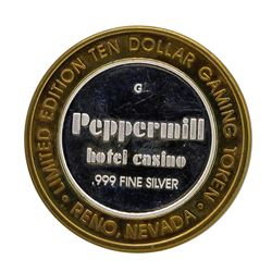 .999 Silver Peppermill Hotel Casino Reno, NV $10 Casino Limited Edition Gaming T