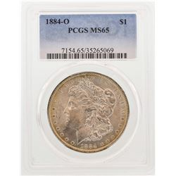 1884-O $1 Morgan Silver Dollar Coin PCGS MS65