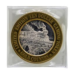 .999 Silver Gold Country Motor Inn Elko, NV $10 Limited Edition Casino Gaming To