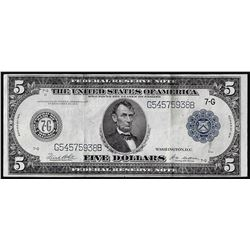 1914 $5 Federal Reserve Note Chicago
