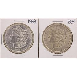 Lot of 1888-1889 $1 Morgan Silver Dollar Coins