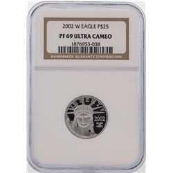 2002-W $25 Platinum American Eagle Coin NGC PF69 Ultra Cameo