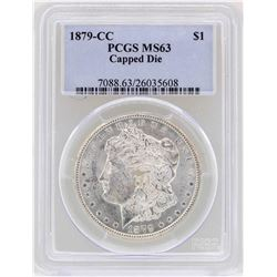 1879-CC Capped Die $1 Morgan Silver Dollar Coin PCGS MS63