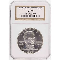 1998-S $1 Black Patriots Commemorative Silver Dollar Coin NGC MS69