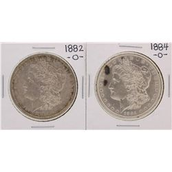 Lot of 1882-O & 1884-O $1 Morgan Silver Dollar Coins