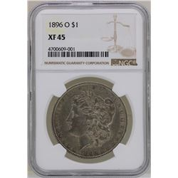 1896-O $1 Morgan Silver Dollar Coin NGC XF45