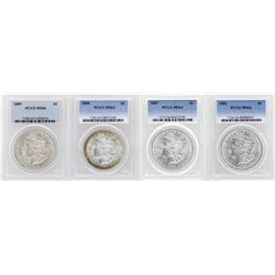 Lot of 1886-1889 $1 Morgan Silver Dollar Coins PCGS MS64