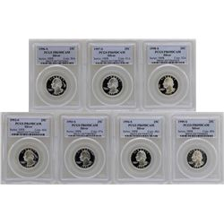 Lot of 1992-S to 1998-S State Silver Proof Quarter Coins PCGS PR69DCAM