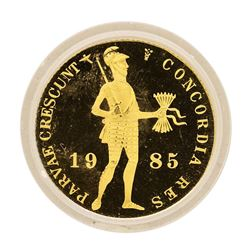 1985 Netherland Ducat Proof Gold Coin