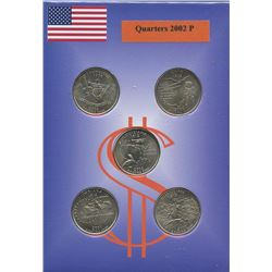 USA; 2002P 25¢ state quarter collection in a cardboard all uncirculated or better.