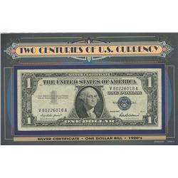 USA; 1957 $1 & 2006 $1 two centuries of US currency set, VF to AU for grades.