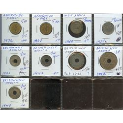 Lot of World coins; British West Africa, French Central Africa & West africa lot of 9 coins all in a