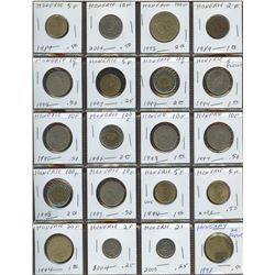 Lot of World coins; Hungary lot of 20 coins all in average condition.