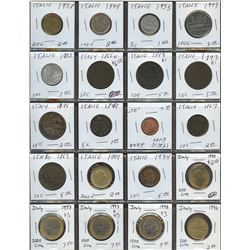 Lot of World coins; Italy lot of 20 coins all in average condition.