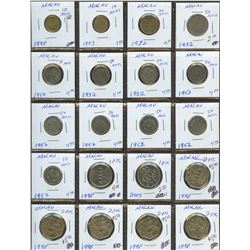 Lot of World coins; MaCOA lot of 23 coins all in average condition.
