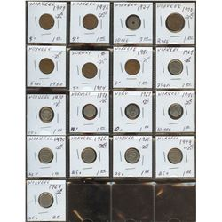 Lot of World coins; Norway lot of 17 coins all in average condition.