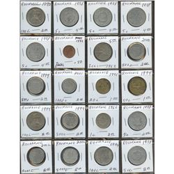 Lot of World coins; Romania lot of 20 coins all in average condition.
