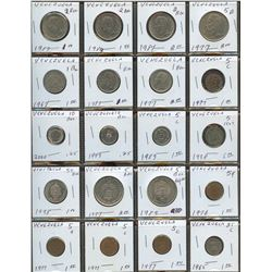 Lot of World coins; Venezuela lot of 20 coins all in average condition.