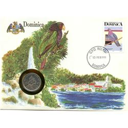 Dominican Republic 1991 first day cover with coin, uncirculated or better for grade.