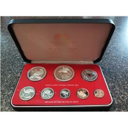 Papua New Guinea 1¢ to $10 1978 silver proof Year set from the Franklin Mint, sealed and housed, wit