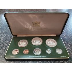 Trinidad & Tobago 1¢ to $10 1976 silver proof Year set from the Franklin Mint, sealed and housed, wi