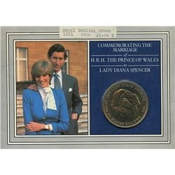 Great Britain 1981 crown marriage of the Prince of Wales & Lady Diana commemorative coin, sealed in