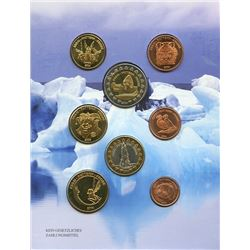Iceland 2004 1¢ to €2 pattern Year set housed and sealed in a cardboard, all uncirculated or better.
