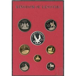 Kingdom of Lesotho 1981 1¢ to $15 proof Year set housed with COA.