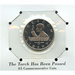 Marshall Islands 1995 $5 the torch has been passed commemorative coin housed and sealed in the origi