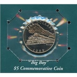 Marshall Islands 1996 $5 American steam locomotive commemorative coin housed and sealed in the origi
