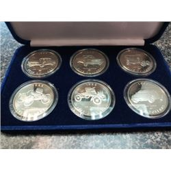 Marshall Islands 1996 $5 100 Years on the road with Ford mint set of 6 coins, all sealed and housed