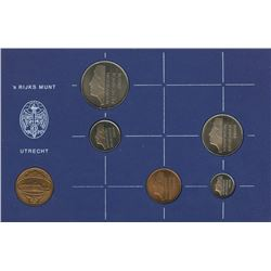 Netherland 1983 1¢ to 2½G Year set all uncirculated or better.