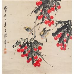 CHEN BANDING Chinese 1876-1966 Watercolor Scroll